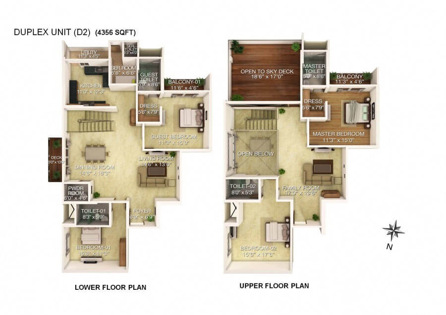 Rj group for 4 bhk plan layout